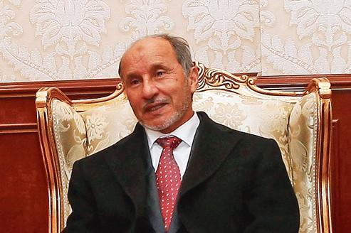 Moustapha Abdeljalil, au siège du CNT à Tripoli, le 12 janvier.