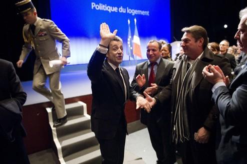 Nicolas Sarkozy est allé défendre, jeudi à Longjumeau (Essonne), son plan pour le logement.