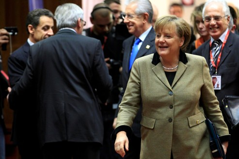 Angela Merkel, lors du sommet européne, le 30 janvier à Bruxelles.