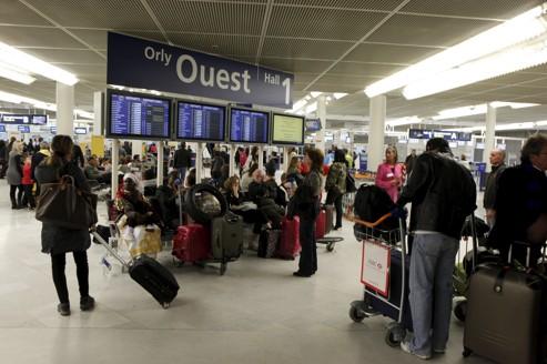 Le hall de l'aéroport d'Orly lors du dernier mouvement de grève des personnels d'Air France en octobre 2011.