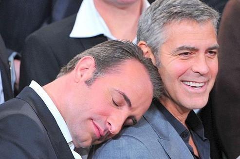 Dujardin et Clooney, inséparables rivaux