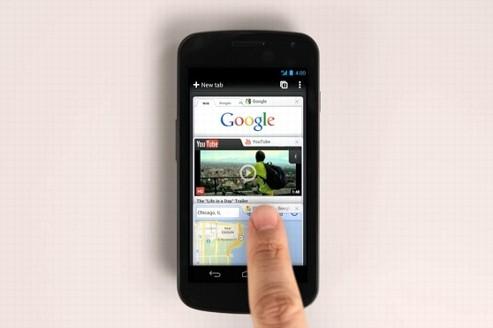 Le navigateur internet Chrome fait son entrée sur Android