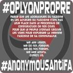 Le logo de l'opération «Lyon propre» menée par les Anonymous.