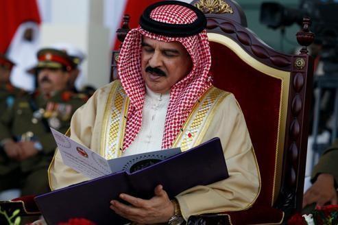 Hamad Ben Issa al-Khalifa, roi de Bahreïn, lors de l'inauguration officielle d'un hôpital portant son nom, le 6 février, à Manama.