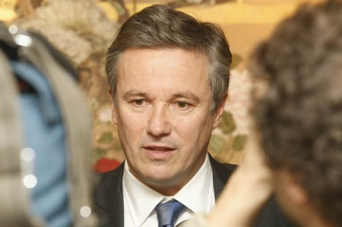 Nicolas Dupont-Aignan, président de Debout la République et candidat à l'élection présidentielle. Crédit : Richard Vialeron/Le Figaro