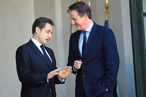 Le chef de l'État, Nicolas Sarkozy, reçoit le premier ministre britannique, David Cameron, à l'Élysée, le 2décembre dernier.