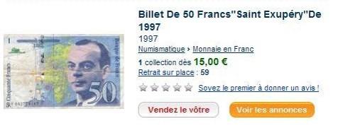 Les francs se vendent comme des petits pains sur Internet