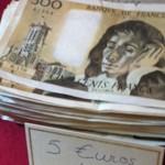 Le 500 francs Pascal, retiré de la circulation en 2007, ne s'échange pas plus de 5 euros aujourd'hui, soit une perte de plus de 70 euros par rapport à sa valeur faciale. Crédit photo : CGB.fr.