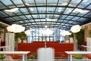 «Le forum» au siège du Crédit Agricole. Crédits photo : A.Dovifat/Crédit Agricole