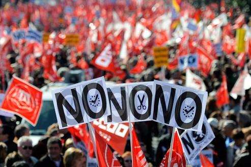 Réformes : un demi-million d'Espagnols dans la rue