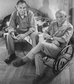 Picasso (au premier plan) avec Duncan, en 1960.