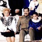 Saddal Hussein, sa femme Sajida et une de leurs filles. La femme du dictateur irakien ne faisait pas de politique.