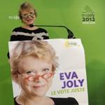 Eva Joly le 3 février en meeting à Caen.