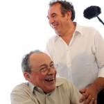François Bayrou avec Michel Rocard en 2007, lors de l'université d'été de l'UDF.