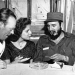 Fidel Castro et sa jeune conquête allemande, Marita Lorenz qu'Ava Gardner accusera de voiloir garder le Lider Maximo pour elle toute seule.