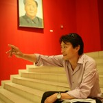 Xin Dong Cheng lors de son exposition à La Havane. (Xin Dong Cheng Gallery)