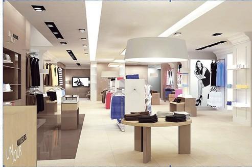 Couleurs gris taupe et blanc, mobilier contemporain: les boutiques sont peu à peu relookées pour séduire une clientèle transgénérationnelle.