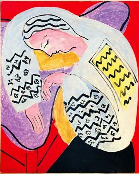 Un nouveau Matisse apparaît dans ces pages : un maître qui revient sur le même motif pour explorer de nouveaux processus créatifs («Le Rêve», 1940,exceptionnellement prêté par une collection privée). (©SUCCESSION H.MATISSE. PHOTO : COLLECTION PARTICULIÈRE)