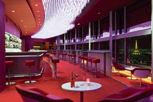 Bar avec vue l 39 h tel concorde la fayette for Hotel porte maillot