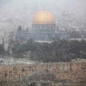Tempête de neige au Moyen-Orient