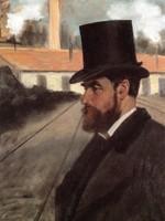 En 1875, Degas représente son ami d'enfance Henri Rouart devant son usine de Montluçon (Allier). Elle est le symbole de sa fortune, quoique l'homme préfère regarder ailleurs. Le tableau restera dans la famille bien après la vente de la collection en 1912. C'est Clément, fils de Julie Manet et petit-fils d'Henri, qui le cédera à la Fondation Carnegie aux États-Unis où il est visible.