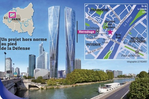Le projet de tours jumelles de la d fense bloqu - Les cents ciels paris 11 ...