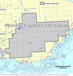 Zone dite «de Brignoles» du permis d'exploration demandé par Schuepbach Energy.