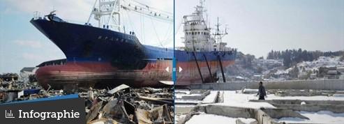 Un an après le tsunami, les paysages japonais n'ont pas fini de cicatriser