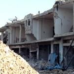Des immeubles détruits par les bombardements dans la ville de Rastan, près de Homs.
