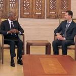 Kofi Annan et Bachar el-Assad, samedi à Damas.