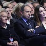 Bernadette Chirac, Jean-François Copé et Carla Bruni-Sarkozy, dimanche à Villepinte.