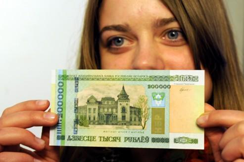 Le billet de 200.000 roubles ne nourrit pas son Biélorusse