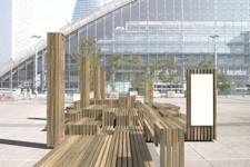 Des banquettes en bois seront également installées le 29 mars prochain.