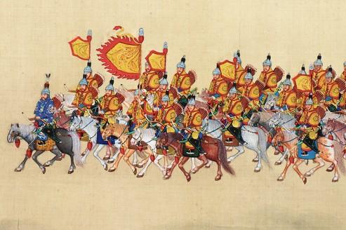 Ce rouleau impérial chinois long de 24 mètres, ayant appartenu à l'empereur Qianlong au XVIIIe, a été acheté 22millions d'euros en 2011,à Toulouse.