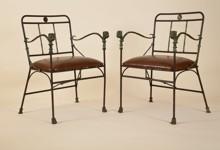 Paire de fauteuils en bronze de Diego Giacometti, à l'Arc en Seine. Fin février, un modèle similaire s'est envolé à 280 000 euros chez Sotheby's.
