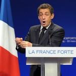 Nicolas Sarkozy, en meeting à Strasbourg.