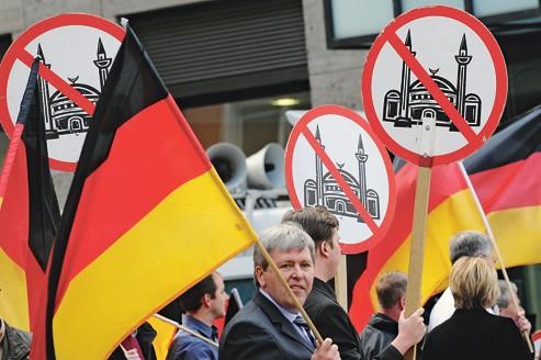 Manifestation anti-islamique du parti d'extrême droite Pro NRW, à Solingen, en mai 2010.