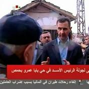 El-Assad en visite dans la ville de Homs