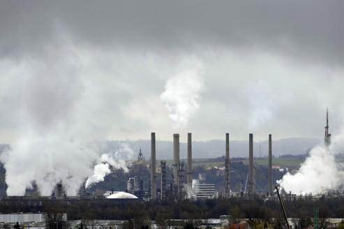 Une usine pétrochimique, près de Lyon.