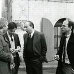 Le jeune journaliste(à droite) avec Jean-Claude Godin à Marseille en 1983.