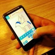 Le carton d'un jeu de dessin sur mobile