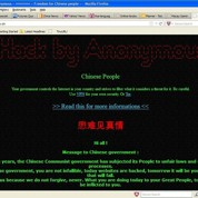 Anonymous attaque plus de 300 sites Internet chinois