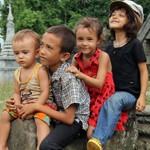 Les enfants Vallier le 26 juillet 2011.