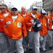 La «marche de l'acier» sont arrivés à Paris