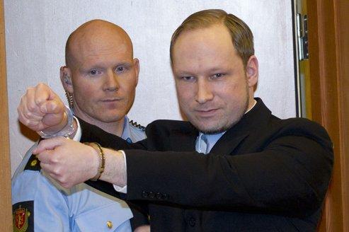Anders Behring Breivik, le 6 février dernier, au tribunal d'Oslo.