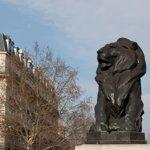 Le lion de Belfort, place Denfert-Rochereau, œuvre de Frédéric Bartholdi.