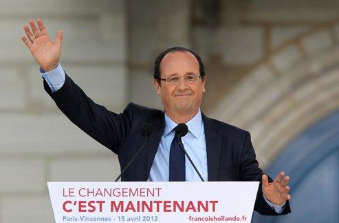 François Hollande, le 15 avril à Vincennes.