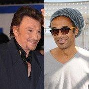 Hollande et Sarkozy, les célébrités à leurs côtés