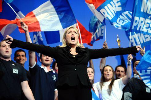 Marine Le Pen a tenu un discours très tranché, mardi soir au Zénith de Paris.