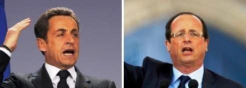 François Hollande et Nicolas Sarkozy au coude-à-coude au premier tour